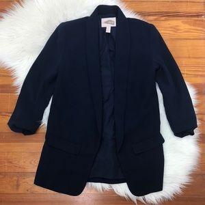 Navy slouchy blazer